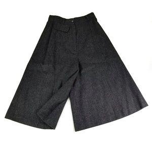 Vintage PiCato Grey Wool Maxi Wide Leg Culottes 8